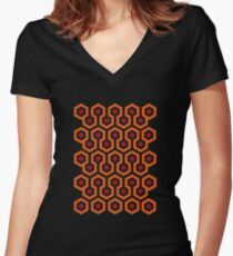 Overlook Hotel Carpet (The Shining)  Women's Fitted V-Neck T-Shirt