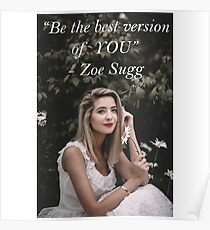 Zoe Sugg - Be The Best YOU  Poster