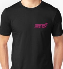 STI - Subaru Technica International Pink Logo Unisex T-Shirt