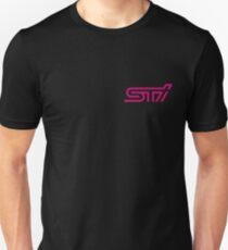 STI - Subaru Technica International Pink Logo T-Shirt