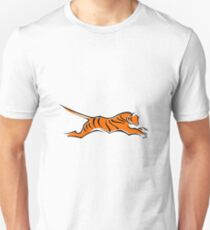 Abstract Tiger logo emblem  Unisex T-Shirt