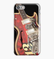 Vintage 13 Guitar Front iPhone Case/Skin