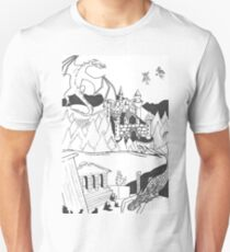 Utopia Black & White Design T-Shirt