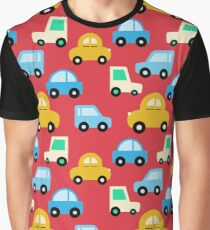Cartoon Cute Cars Graphic T-Shirt