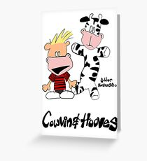 Cowvin and Hooves Greeting Card