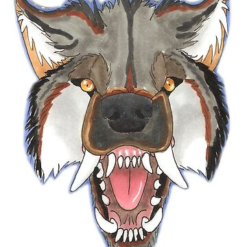 Snarly Copic Werewolf by PartyCoyote