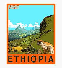 Visit ETHIOPIA Travel Poster Photographic Print