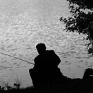 Fisherman in Black and white by Steve plowman