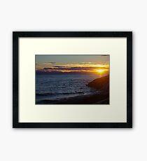 Sun's Last Dance............  Framed Print