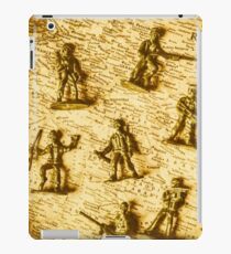 Soldiers and battle maps iPad Case/Skin