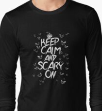 Keep Calm & Scary On Long Sleeve T-Shirt