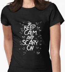 Keep Calm & Scary On Womens Fitted T-Shirt
