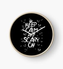Keep Calm & Scary On Clock