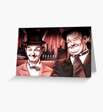 LAUREL AND HARDY Greeting Card