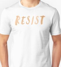 RESIST 7.0 - Rose Gold on Navy #resistance T-Shirt