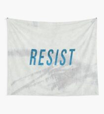RESIST 2.0 - Blue #resistance Wall Tapestry