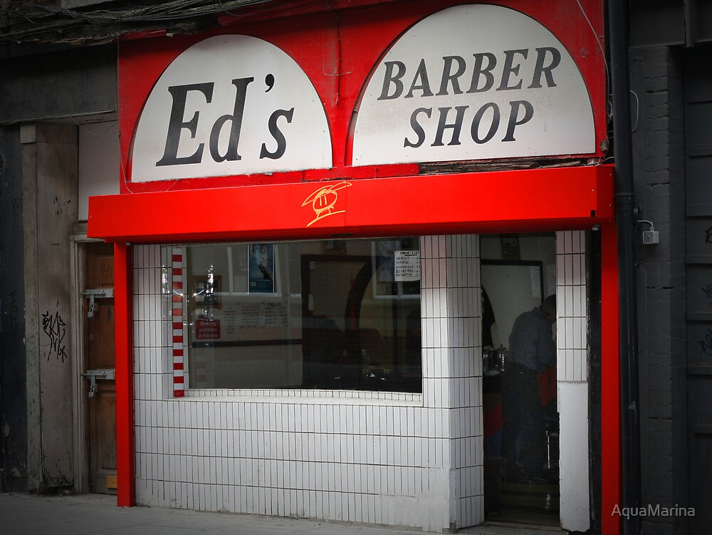 Ed's Barber Shop by AquaMarina