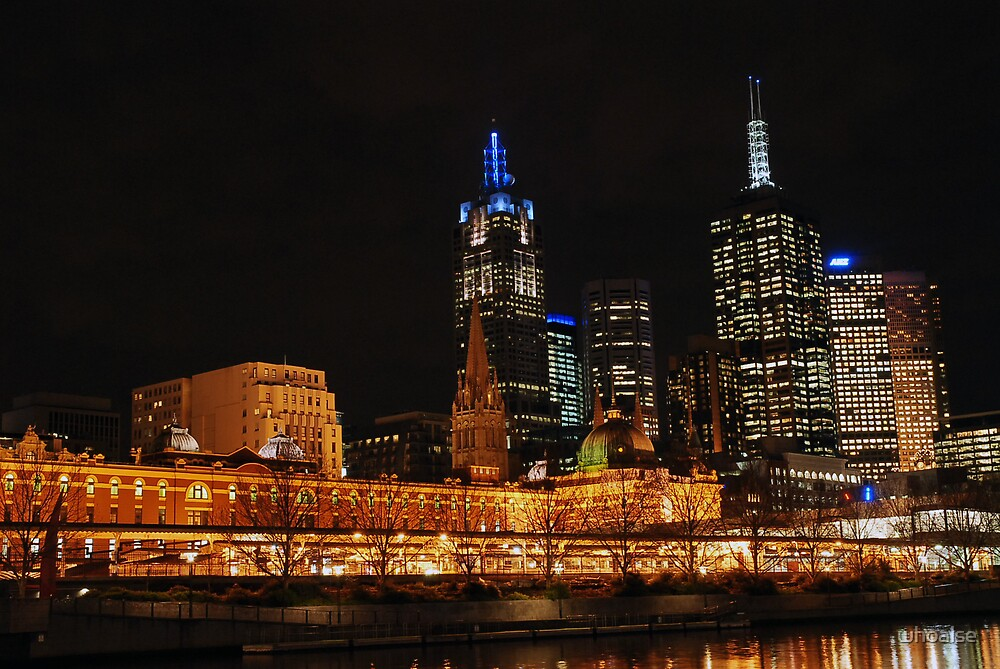 Flinders Station by Yarra by whoalse