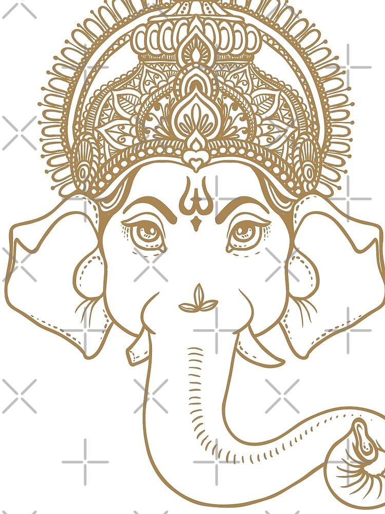 The Face Of Lord Ganesh Graphic T Shirt By Nikithaprashd Redbubble