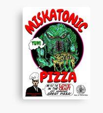 MISKATONIC PIZZA Canvas Print