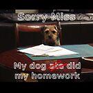 teacher card my dog ate my homework by sjbaldwin