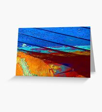 Rusty grunge aged steel iron paint background Greeting Card