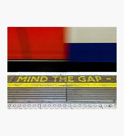 Mind the Gap - London UK Photographic Print
