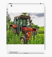 Old vintage tractor digital art manipulation iPad Case/Skin