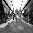 Reflecting on St Pauls Cathedral - London UK by Norman Repacholi