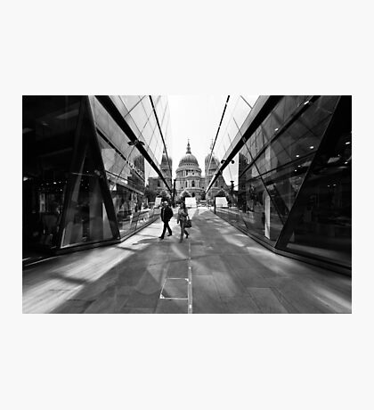 Reflecting on St Pauls Cathedral - London UK Photographic Print