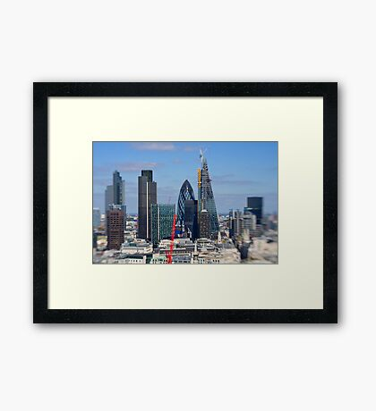 Gherkin and cheese grater - London UK Framed Print