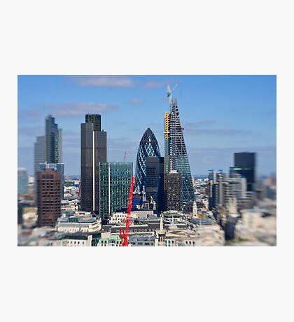 Gherkin and cheese grater - London UK Photographic Print