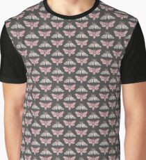 Moth pattern on dark grey Graphic T-Shirt
