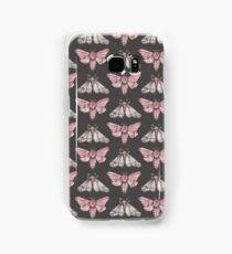 Moth pattern on dark grey Samsung Galaxy Case/Skin