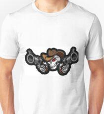 Skeleton with guns Unisex T-Shirt