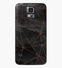 Black Clouds Geometric Rose Gold Design Case/Skin for Samsung Galaxy