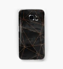 Black Clouds Geometric Rose Gold Design Samsung Galaxy Case/Skin