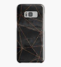 Black Clouds Geometric Rose Gold Design Samsung Galaxy Case/Skin
