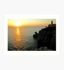 Sagres Sunset Art Print