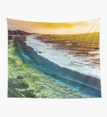 Beach - Vintage - Ocean watching the waves on the Oregon Gold Coast Travel Wall Tapestry Wall Tapestry