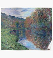 Claude Monet - The Small Arm Of Jeufosse, Autumn, 1884 Poster