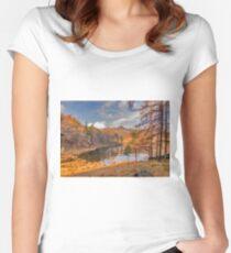 Autumn at Blea Tarn Women's Fitted Scoop T-Shirt