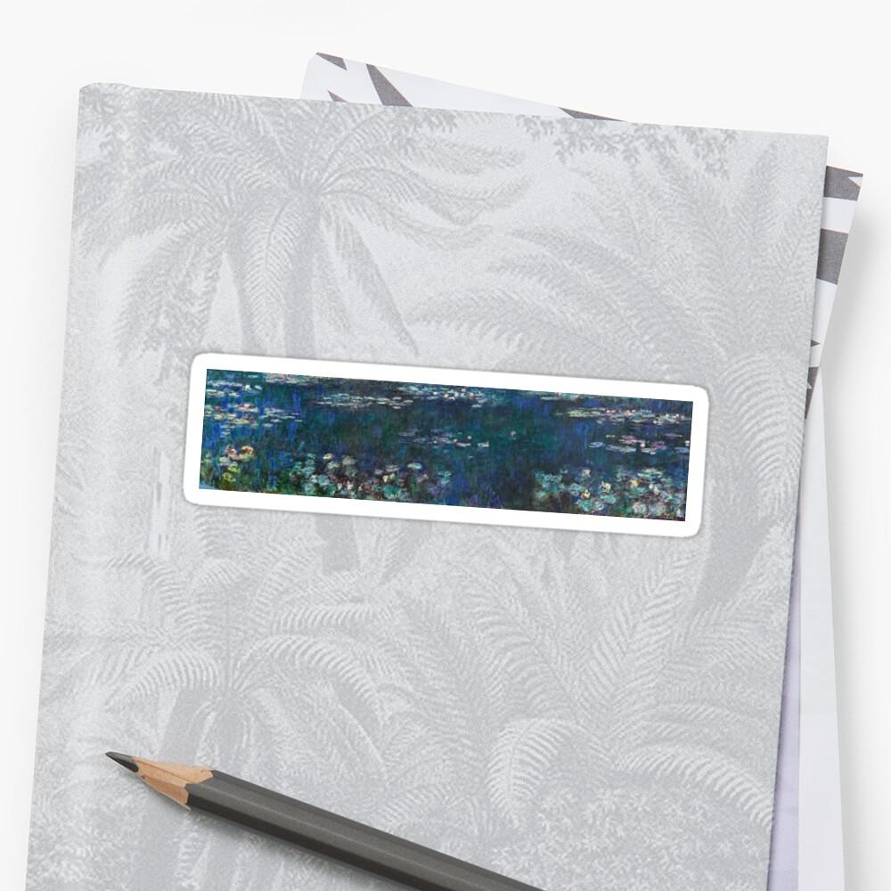 Claude Monet - Die Seerosen - Grüne Reflexionen (1915 - 1926) Sticker