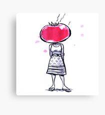 Tomato Face Canvas Print