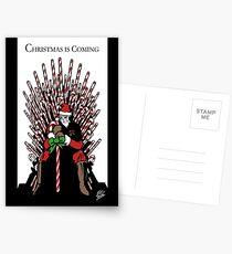 Christmas is Coming Postcards