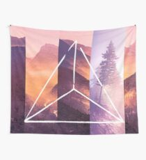 Forest Mountain Trees - Geometric Nature Wildfire Rebirth Wall Tapestry