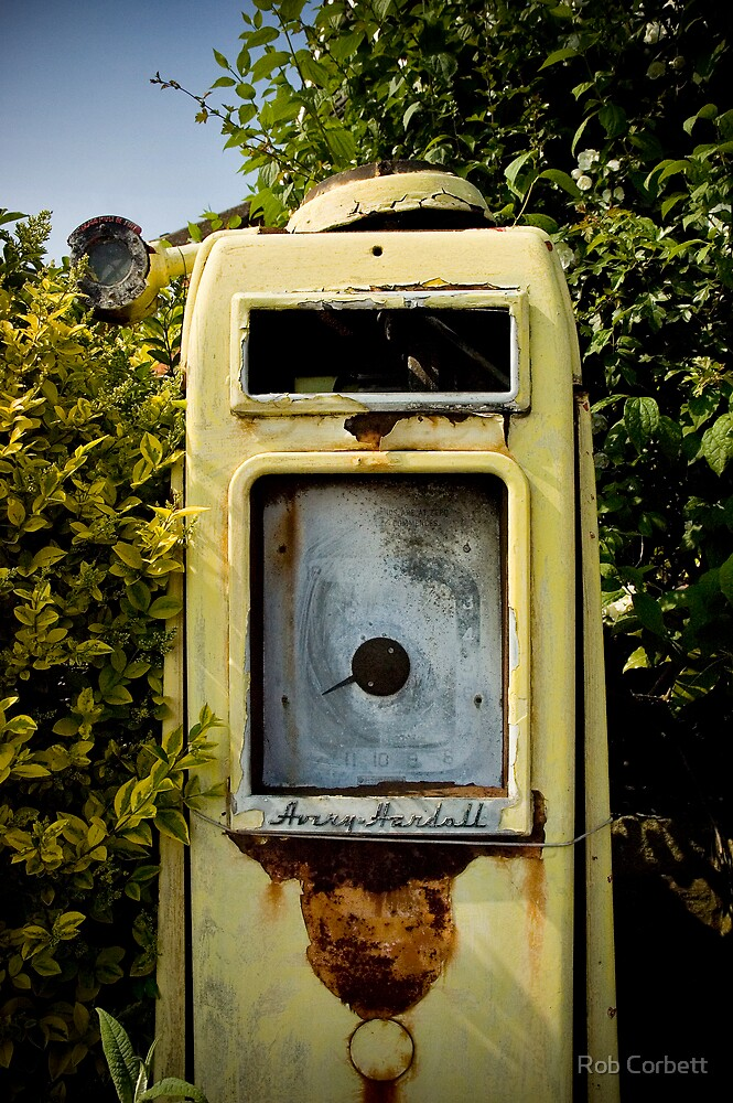 Vintage Gas Pump by Rob Corbett