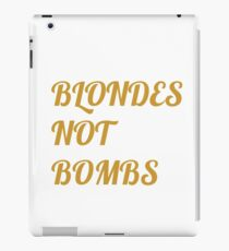 Flight of the Conchords Blondes Not Bombs iPad Case/Skin