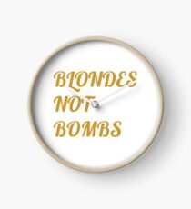 Flight of the Conchords Blondes Not Bombs Clock