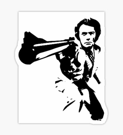 DIRTY HARRY T-SHIRT ON LITE Sticker